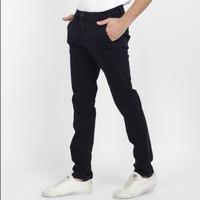 Papperdine 71 Stretch Celana Jeans Chinos Slim Fit Clana Karet Navy - 32