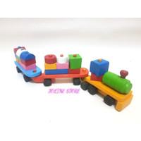 Balok Kereta Kayu - Mainan Edukasi - Mainan Kayu - Mainan Balok