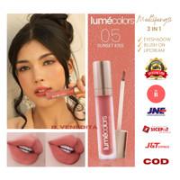 Lipcream Lumecolors lipstik Velvet Lip Cheek Mousse matte Sunset Kiss