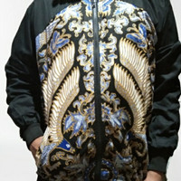 jaket bomber pria batik fullprint