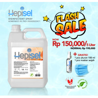 Hepisel Desinfektan Cair Serbaguna - 5 Liter