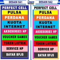 Spanduk / Banner Konter Cell / Jualan Pulsa