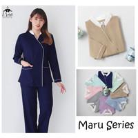 Bianca Series Lengan Panjang Baju Seragam Suster / baby sitter / Nanny