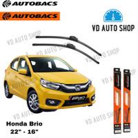 Wiper Blade Autobacs Honda Brio Satya 22 & 16 Frameless 1 SET