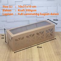 Cake Box / Dus / Kotak kue bolu gulung laminasi Size L (10x31x10)