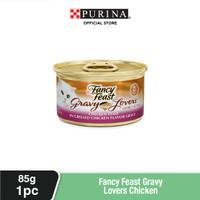 FANCY FEAST Adult Gravy Lovers Chicken Makanan Kucing Basah 85gr