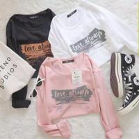 UC baju kaos atasan wanita love always