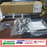 AMP Comscope Patch Panel 24 Port Cat 6 / patch panel AMP cat6 Loaded
