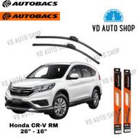 Wiper Blade Autobacs Honda CRV RM 26 & 16 Frameless 1 SET