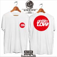 Kaos Baju Mobil GETTIN LOW Logo Racing JDM Kaos otomotif - Gilan Cloth