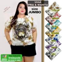 Baju Barong Bali Putih Jumbo Kaos Pantai Baju Bali Mega Big Size