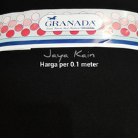 Bahan Bakal Kain hitam pekat polos merek Granada (Harga per 0.1 meter)