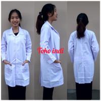 Baju Laboratorium Lengan Panjang / Baju Lab / Baju Praktek Bisa Bordir