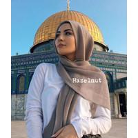 Pleated crinkled hijab/ jilbab import premium muslim pashmina shawl