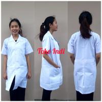 Baju Laboratorium Lengan Pendek / Baju lab / Baju praktek Bisa Bordir