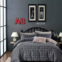 sprei+badcover lokal PREMIUM motif KOTAK ABU-DASTY Size120x200t20