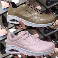 Sepatu sneakers Wanita Skechers Ori Murah Skechers Street Uno 36-39.5