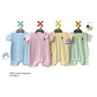NOVA Jumper Segiempat Baju Kodok Bayi Polos Ukuran 0-9 Bulan