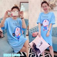 baju dress jumbo wanita Doraemon
