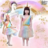 Kostum Kuda Poni / Costume Unicorn Pegasus anak perempuan - Size S