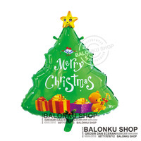 Balon Foil Pohon Natal Jumbo / Balon Natal / Balon Pohon Natal