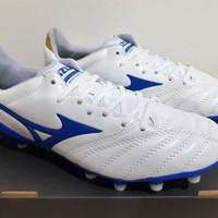 Sepatu Bola Mizuno Morelia Neo ll Leather White Blue