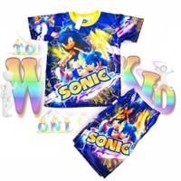 Setelan Baju Anak Sonic Printing