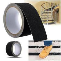 Stiker anti slip tangga - safety walk - Lakban anti Licin lantai Hitam