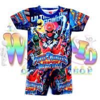Setelan Baju Anak Power Rangers Printing