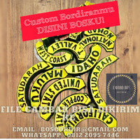 Custom Bordiran Logo Club / Perusahaan / Organisasi / Patch Emblem dll