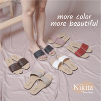 Sandal Flat Wanita - Sandal Teplek Casual Wanita - Sendal Santai