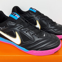 Sepatu Futsal Nike 5 Gato LTR Black Blue Glow Pink Flash