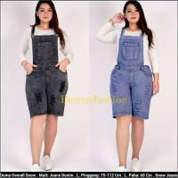 Baju Celana Kodok Overall Pendek Jeans Sobek Big Size Jumbo XL 2XL 3XL