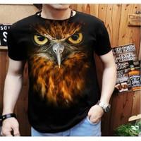 Baju Kaos Gambar Motif Burung Elang Rajawali Hewan Eagle Unik Pria