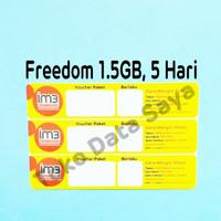 Voucher Kuota Data Indosat Freedom 1.5GB, 5 Hari