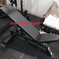 DHZ super bench adjustable bangku gym fitness bench press bowflex