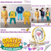 Kazel piyama boy bat edition 1pack isi 3 set baju tidur anak setelan