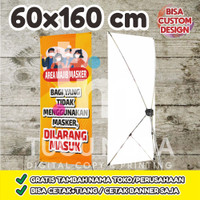 Cetak Y-Banner Outdoor|Standing Banner 60x160cm - AREA WAJIB MASKER