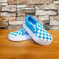Sepatu Anak Vans Slip On Biru Muda Great Original