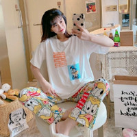 Piyama Donald Duck Jumbo / Baju Tidur Donald Duck / Piyama Big Size