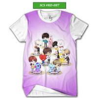 Kaos BTS Army Series Baju BTS Kartun Keren dan Trendy #RD-087