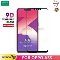 TEMPERED GLASS OPPO A3S 5D/9D (All Model Sama) FULL SCREEN ANTI GORES