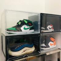 Kotak Sepatu Buka Samping Transparan / Hitam Jumbo Size - Visible Type