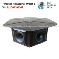 Tweeter Hexagonal Pemanggil Walet Aluminium 6 Sisi AUDAX AX 61
