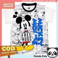 Kaos/ Baju Anak Lengan Pendek Motif Mickey Comic 1-10 tahun - PK