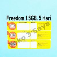 Voucher Kuota Data Indosat Freedom 1.5GB, 5Hari