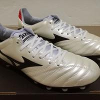 Sepatu Bola Mizuno Morelia Neo ll Leather White Platinum
