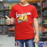 baju kaos anak laki laki karaker Motif GAMBAR MOTOR VESPA JADUL keren