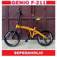 Sepeda Lipat 20 Inch GENIO F 211 Rem Cakram 7 Speed
