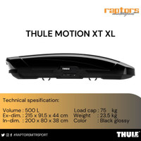 Thule roofbox motion XT XL black colour by raptors